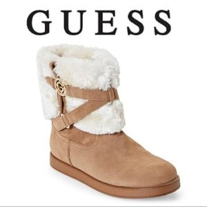 Guess woman's Honey Gallio Faux Fur Boots